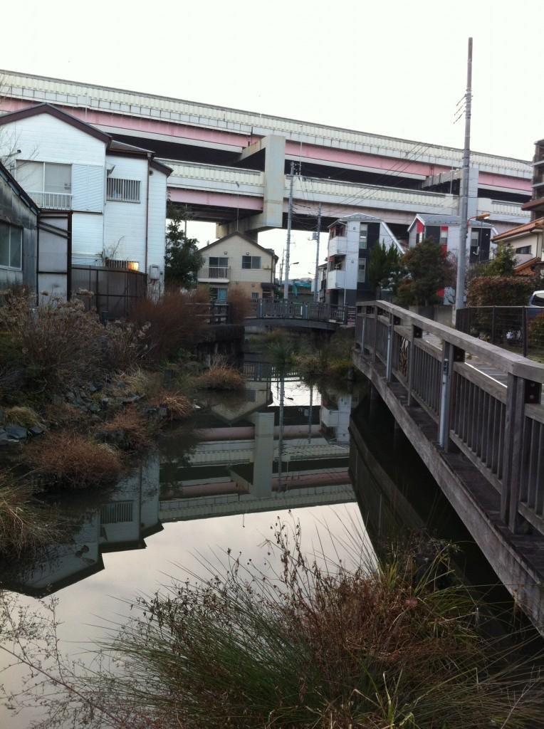 大六天排水所前の古隅田川