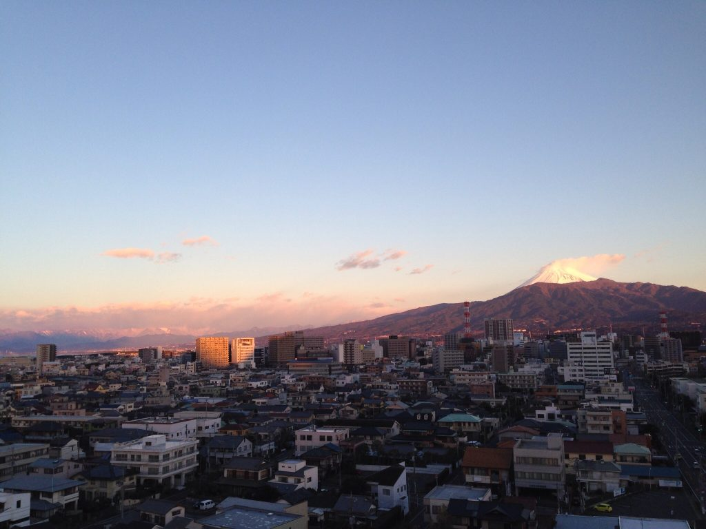 2015年元旦の富士山