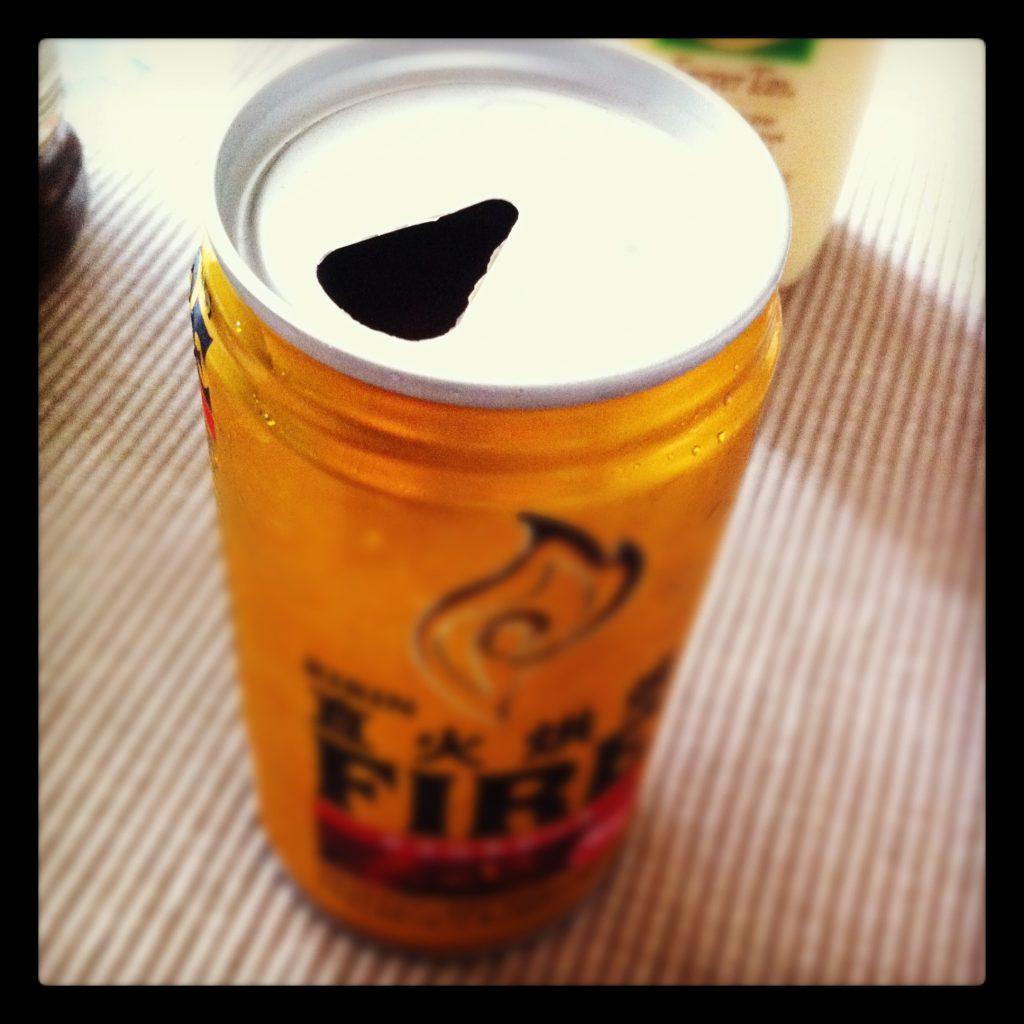 プルトップタイプの缶コーヒーなんて久しぶりに見た。キリンのファイヤーなのに。